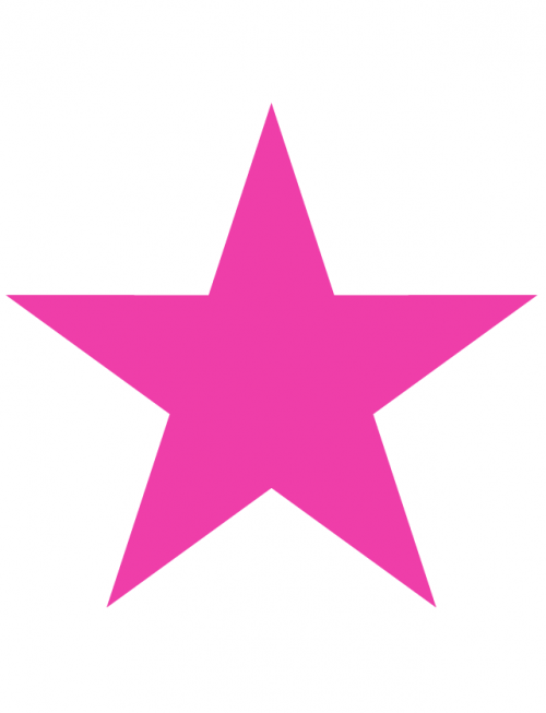Awareness Pink Star Temporary Tattoo