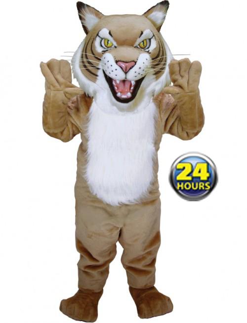 Tan Wildcat Mascot Uniform