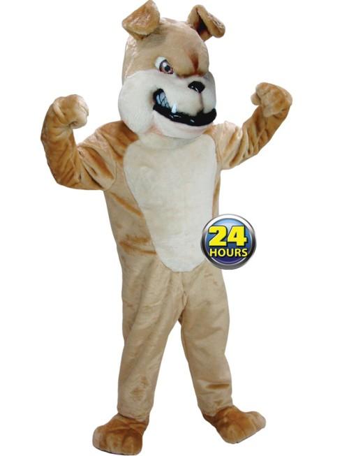 Tan Bulldog Mascot Uniform