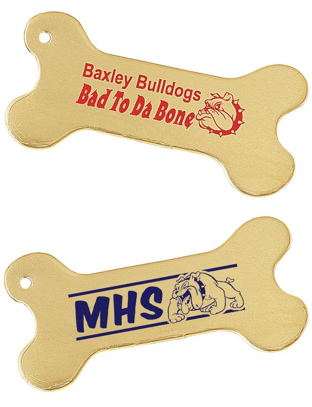 Gold Dog Bone