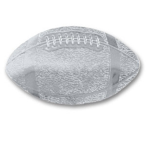 Silver Football Sticky Tops