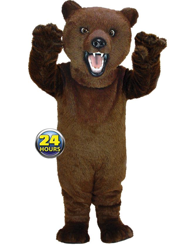 Brown Bear Mascot Uniform