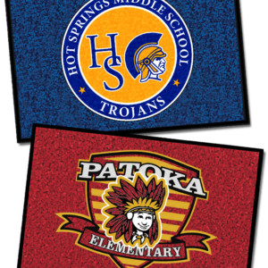 School Logo Doormat