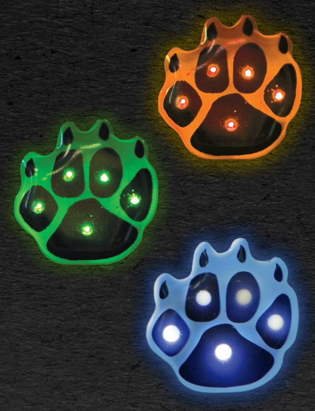 Paw Print LED Pins