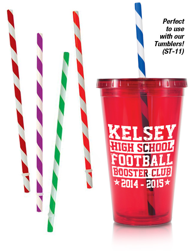 Fun Stripe Straws