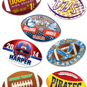 "Full Color Football 3"" Sticky Top"