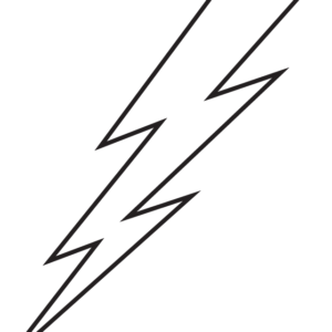 White Lightning Bolt Temporary Tattoos