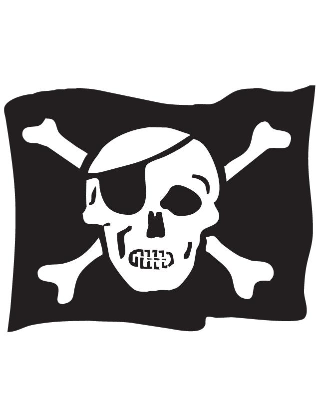Pirate Flag Temporary Tattoos