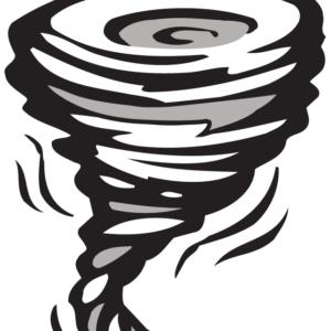 Tornado Temporary Tattoo