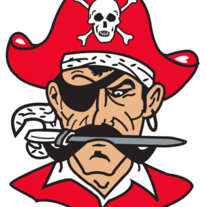 Red Pirate Temporary Tattoos