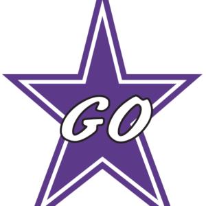 Purple Go Star Temporary Tattoos