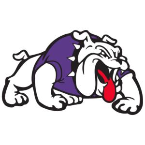 Purple Bulldog Temporary Tattoos