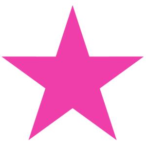 Awareness Pink Star Temporary Tattoos