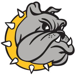 Gold Bulldog Head Temporary Tattoos