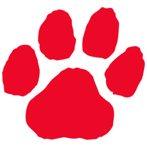 Red Paw Print Temporary Tattoos