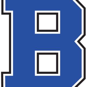 Blue Letter B Temporary Tattoos