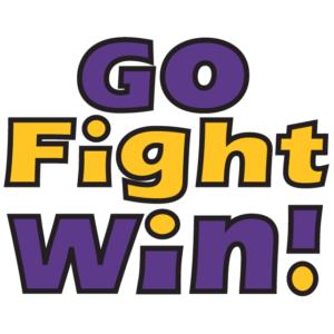 Purple Go Fight Win Temporary Tattoos