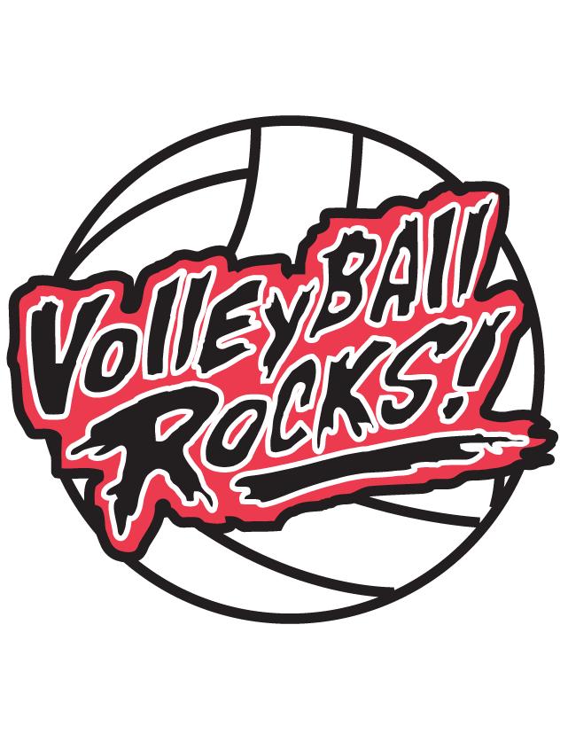 Volleyball Rocks Temporary Tattoos