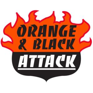 Orange & Black Attack Temporary Tattoos