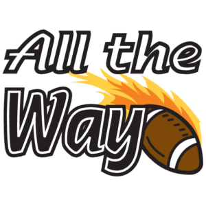 All the Way Flaming Football Temporary Tattoos
