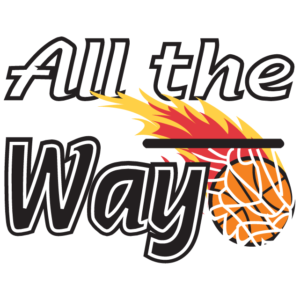All the Way Flaming Basketball Temporary Tattoos