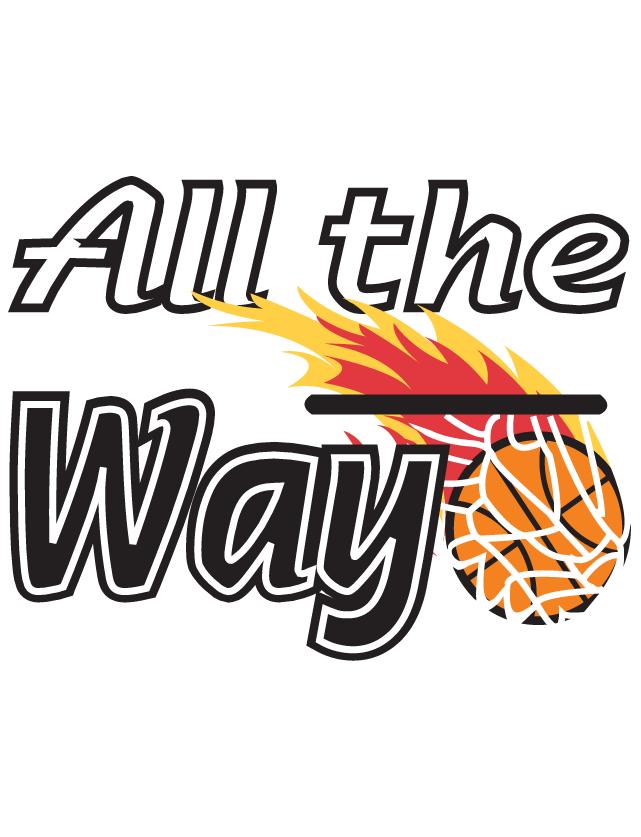 All the Way Flaming Basketball Temporary Tattoos