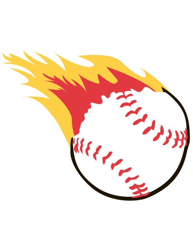 Flaming Baseball Temporary Tattoos - Ships in 24 Hours!