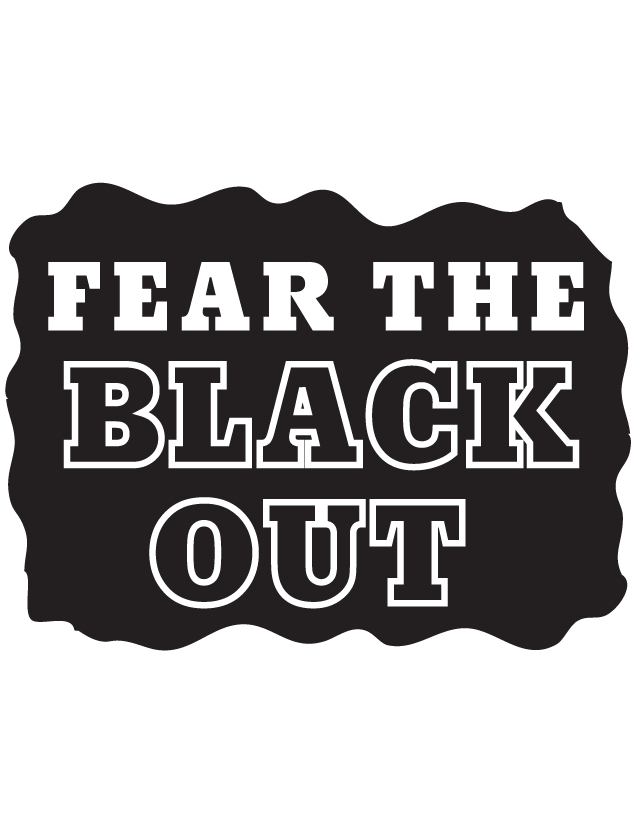 Fear the Black Out Temporary Tattoos
