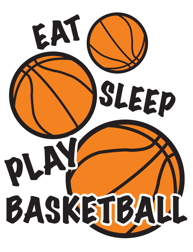 Eat Sleep Play Basketball Temporary Tattoos