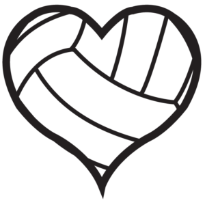 Heart Volleyball Temporary Tattoos