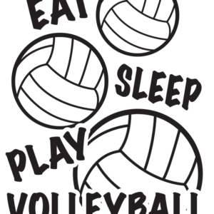 Eat Sleep Play Volleyball Temporary Tattoos