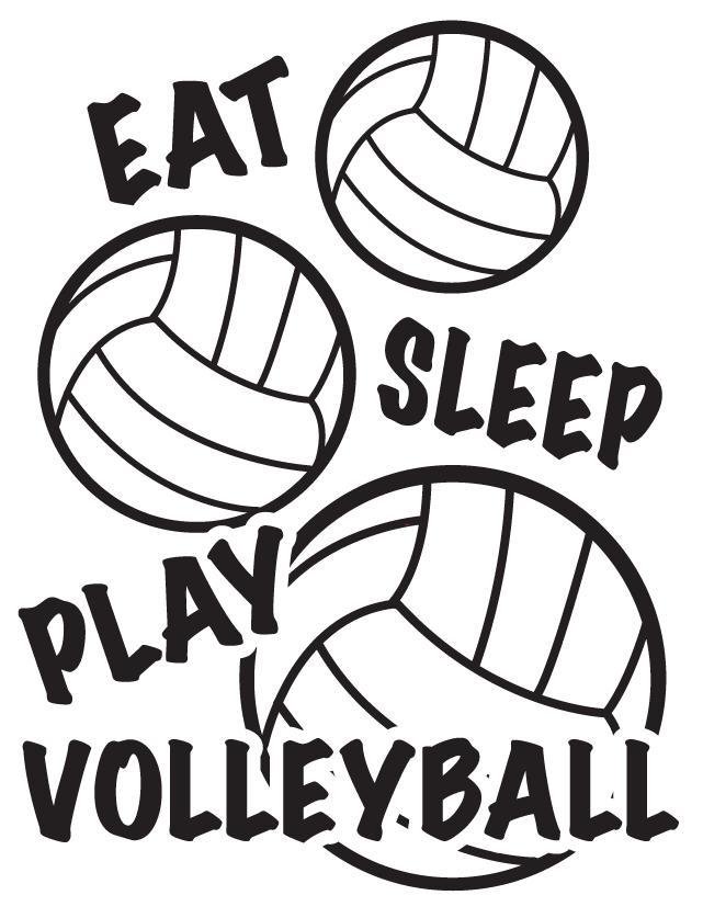 Eat Sleep Play Volleyball Temporary Tattoos