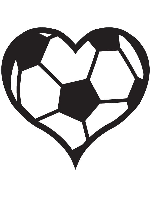 Heart Soccer Ball Temporary Tattoos