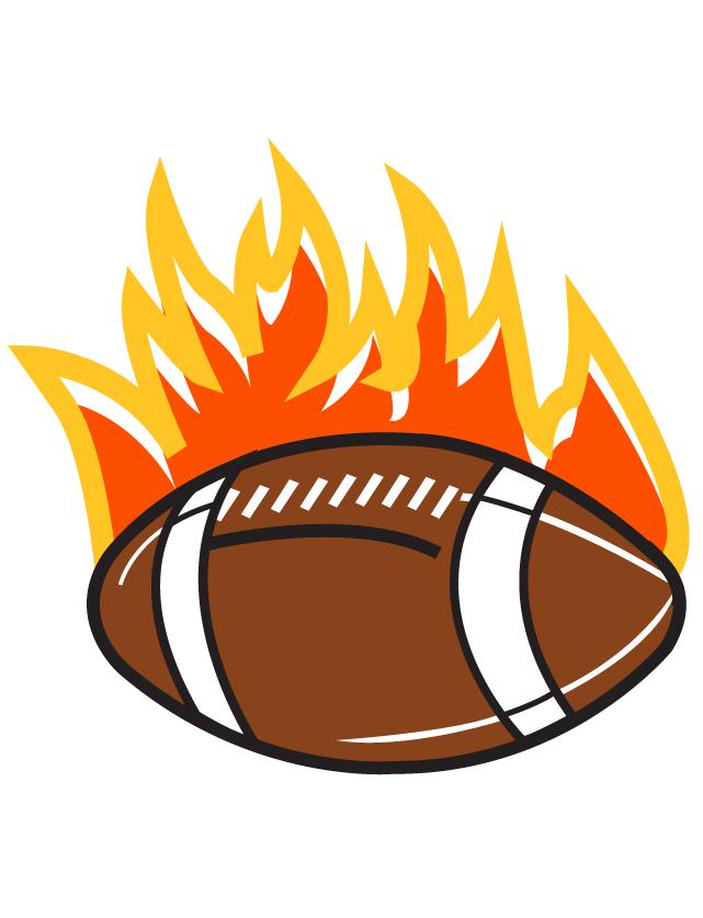 Flaming Football Temporary Tattoos