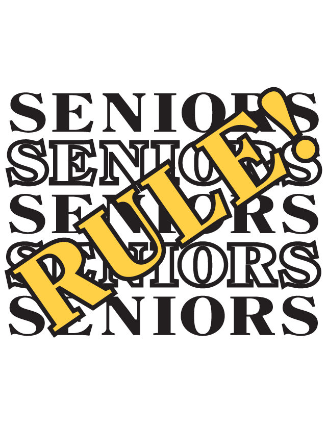 Seniors Rule Temporary Tattoo