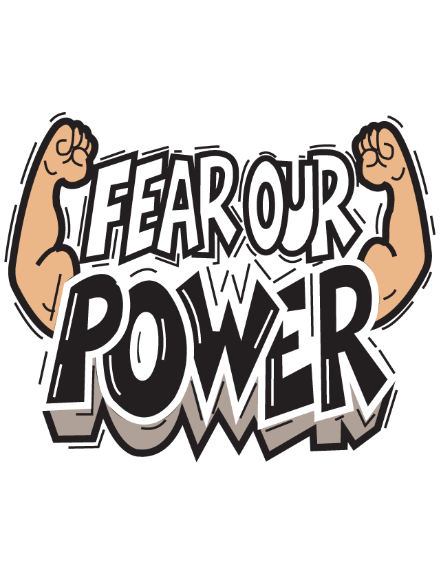 Fear Our Power Temporary Tattoos