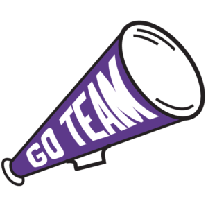 Purple Megaphone Temporary Tattoos