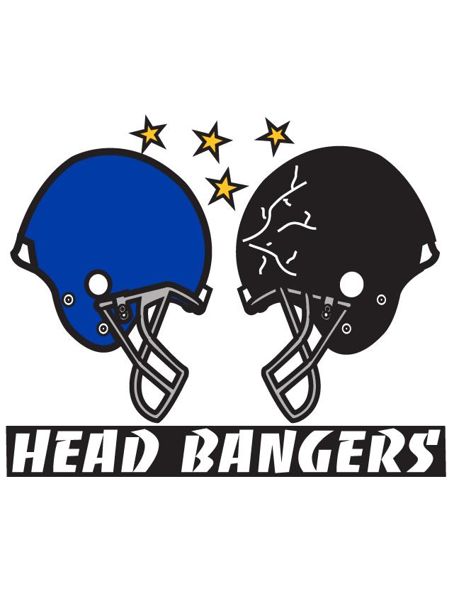 Blue & Black Head Bangers Helmet Temporary Tattoos