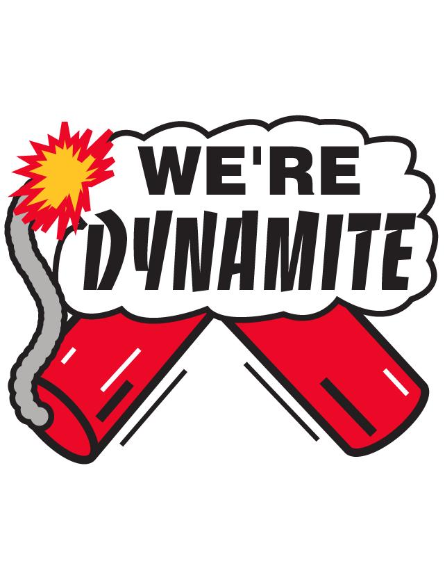 We're Dynamite Temporary Tattoos