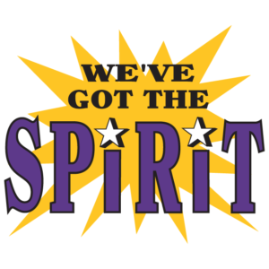 Purple We've Got The Spirit Temporary Tattoos