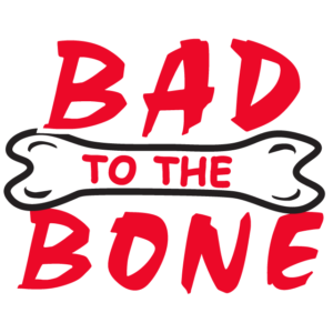 Red Bad to the Bone Temporary Tattoos