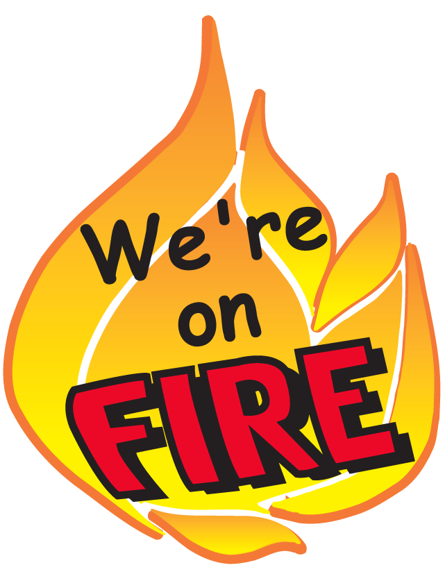 We're on Fire Temporary Tattoos