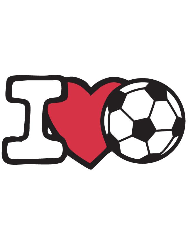 I Love Soccer Temporary Tattoos