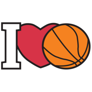 I Love Basketball Temporary Tattoos