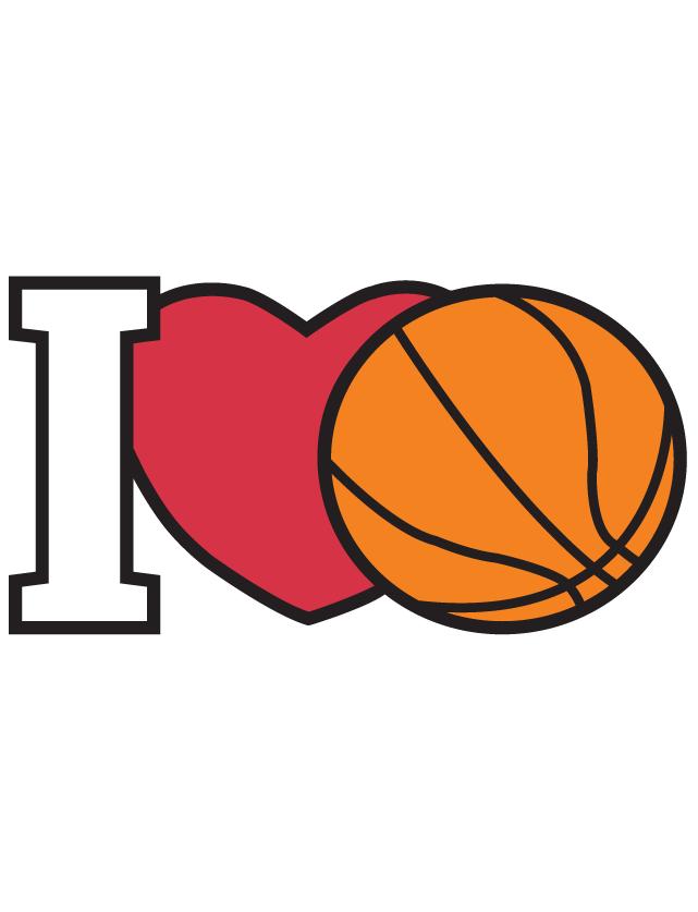 I Love Basketball Temporary Tattoos