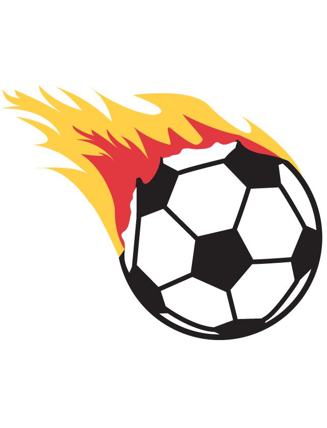Flaming Soccer Ball Temporary Tattoos