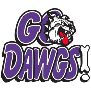 Purple Go Dawgs Temporary Tattoos