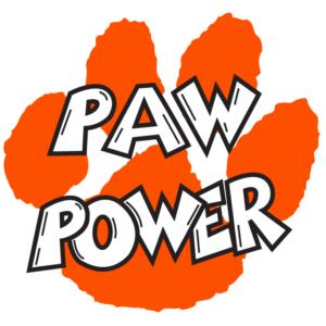Orange Paw Power Temporary Tattoos