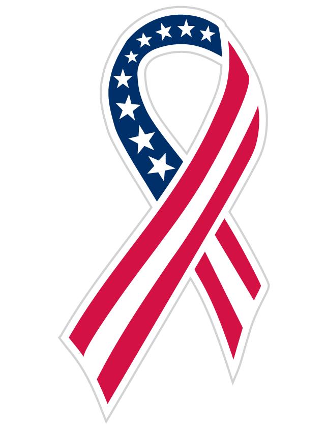 American Flag Ribbon Temporary Tattoos