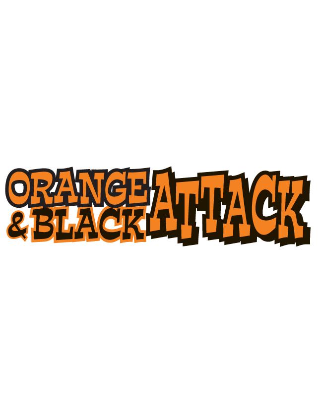 Orange & Black Attack Spirit Strip Temporary Tattoos